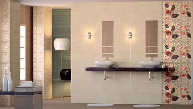 Baños Residenciales Modernos:Revestimiento para el baño
