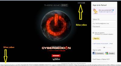 Iklan yahoo muncul di email yahoo