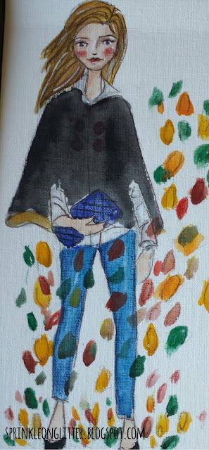 Sprinkle On Glitter Blog// fall fashion// black cape