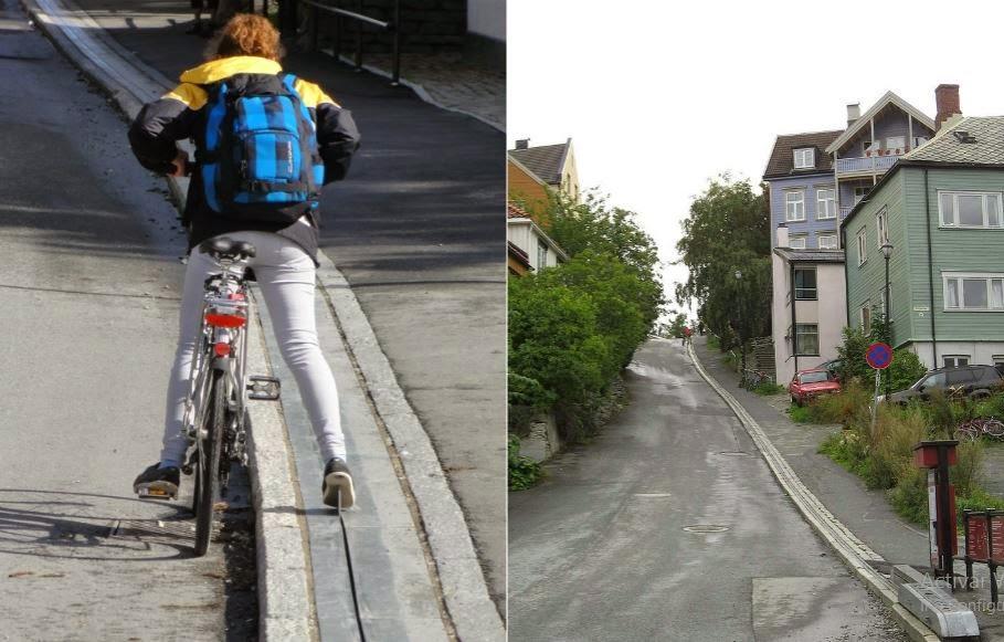 Norway's Bike Escalator cansado de subir cuestas con la bici?
