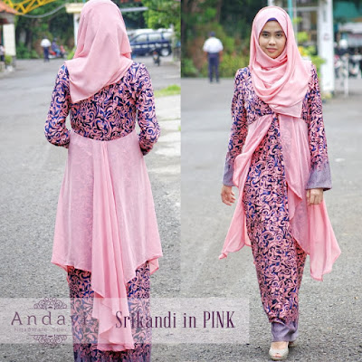 Model Gamis Batik Terbaru 2015