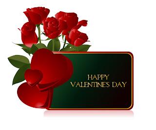 花のバレンタインデー カード テンプレート Heart valentine day greeting card イラスト素材2