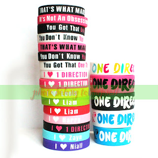 21pcs 1D ONE DIRECTION Bracelet lot Boys UK POP Band Silicon Wristband Rubber