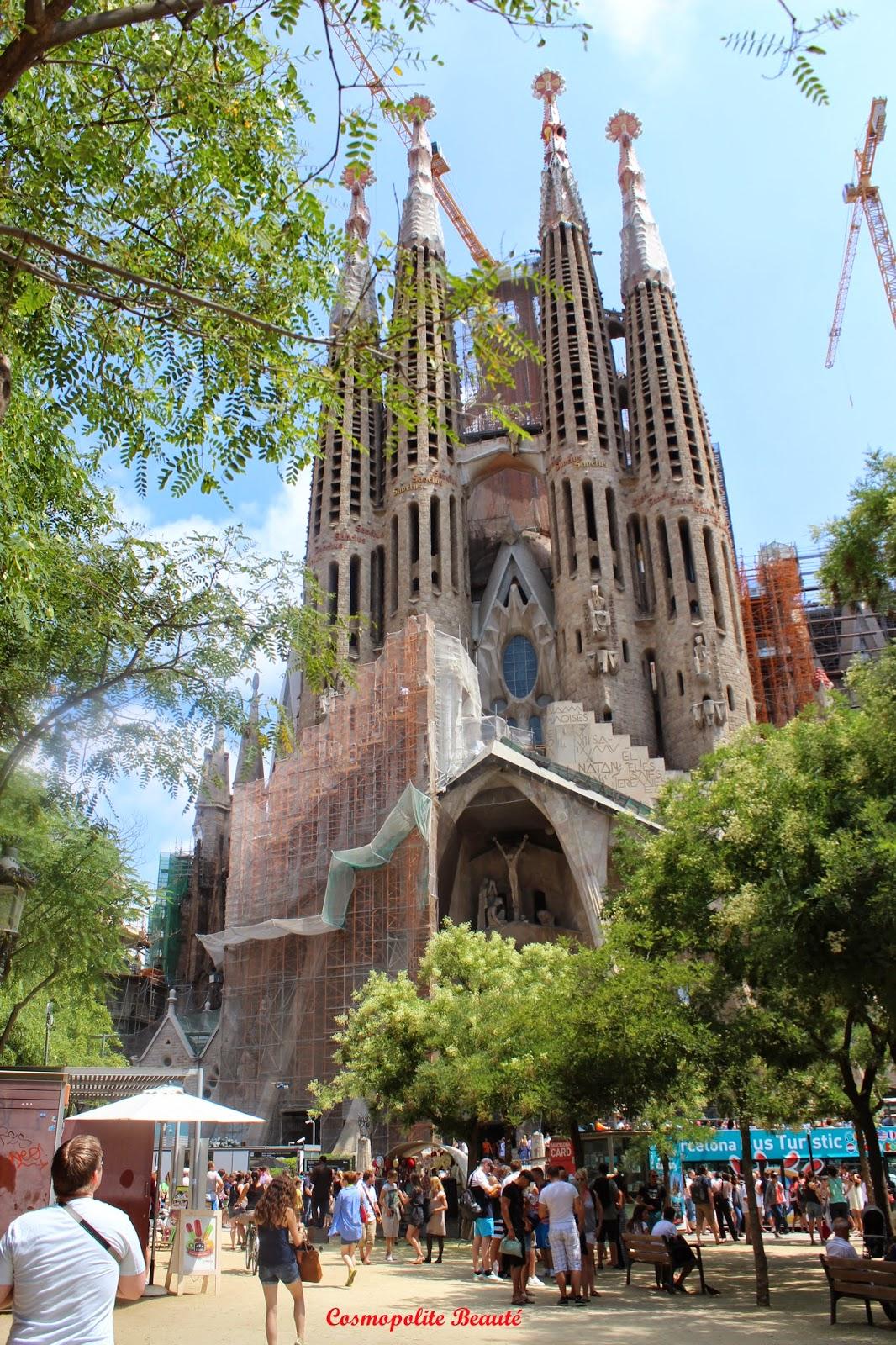 Sagrada Familia, Barcelone, Espagne, voyage, carnet de voyage, Barcelona, beauté, mode, boutiques