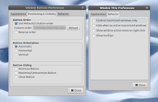 window applets preferences
