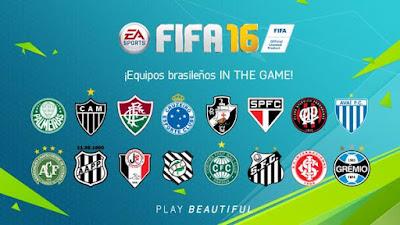 Equipos brasileños FIFA 16, liga brasileña FIFA 16