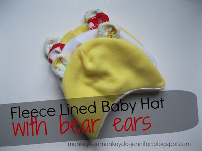 http://monkeyseemonkeydo-jennifer.blogspot.com/2013/01/fleece-baby-hat-with-bear-ears.html