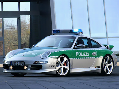 Porsche Police Car
