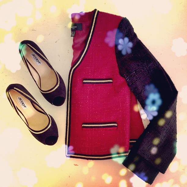 בלוג אופנה Vered'Style ג'קט MANGO נעלי עקב scoop