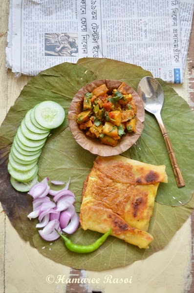 Recipe for chicken mughlai paratha