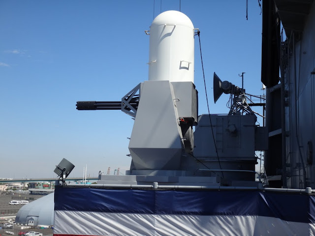 An advanced radar-controlled guns aboard on Battleship USS IOWA BB61 in Los Angeles, California, USA