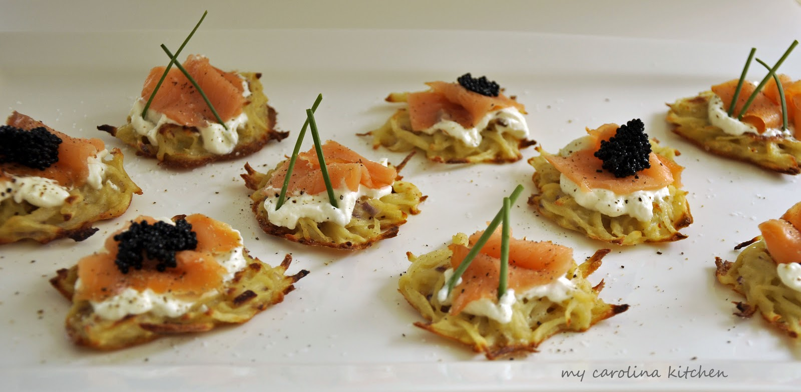salmon drop scones with smoked salmon and crème fraîche by ...