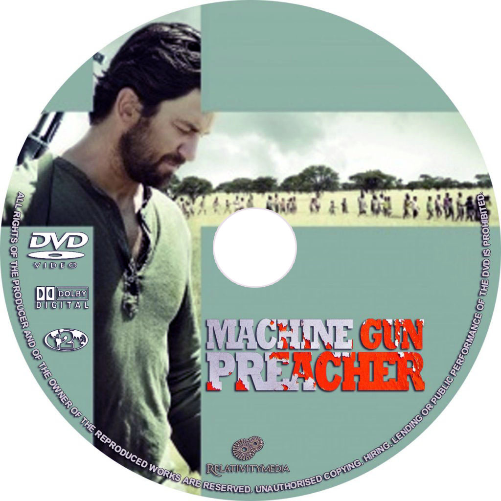Machine Gun Preacher 2011 Movie Poster And Dvd Cover Art