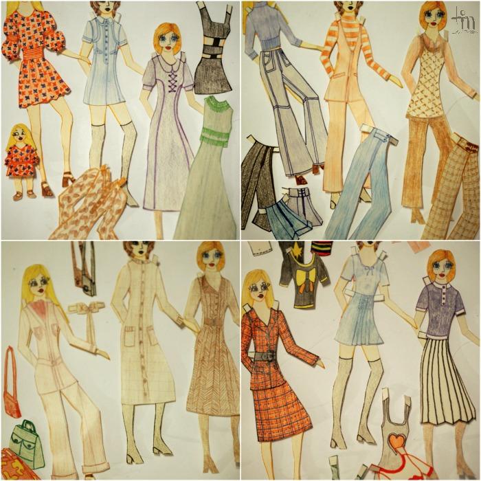 paperinuket, paperdolls, asuja 70-luvulta