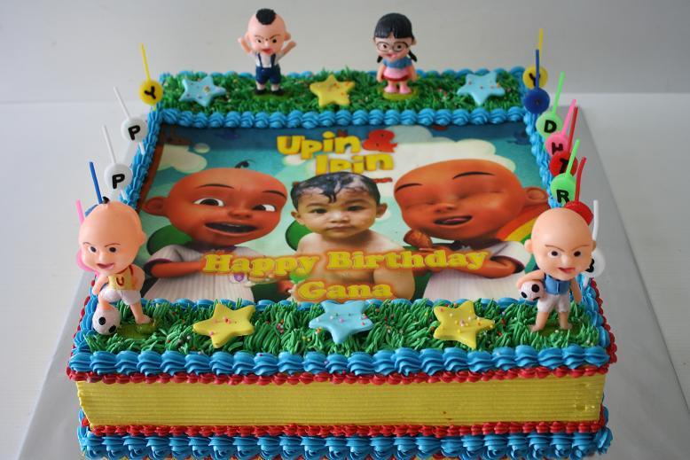 Masama Cakes Birthday Cake For Gana Themed Upin Ipin