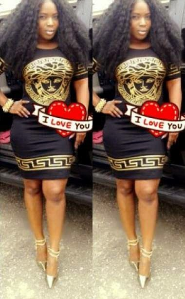 Halima Abubakar shows off her dangerous curves in Versace