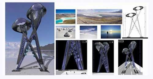 Idean un hotel futurista que pueda moverse por el Salar de Uyuni