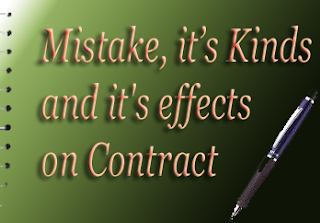 Mistake effects on contract