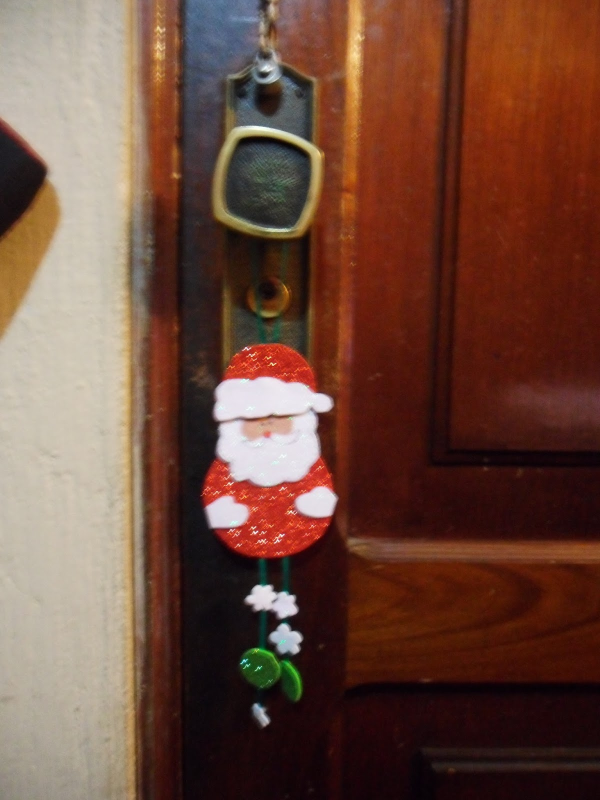 Manualidadesysecretos santa claus colgador de puerta - Colgador de puerta ...