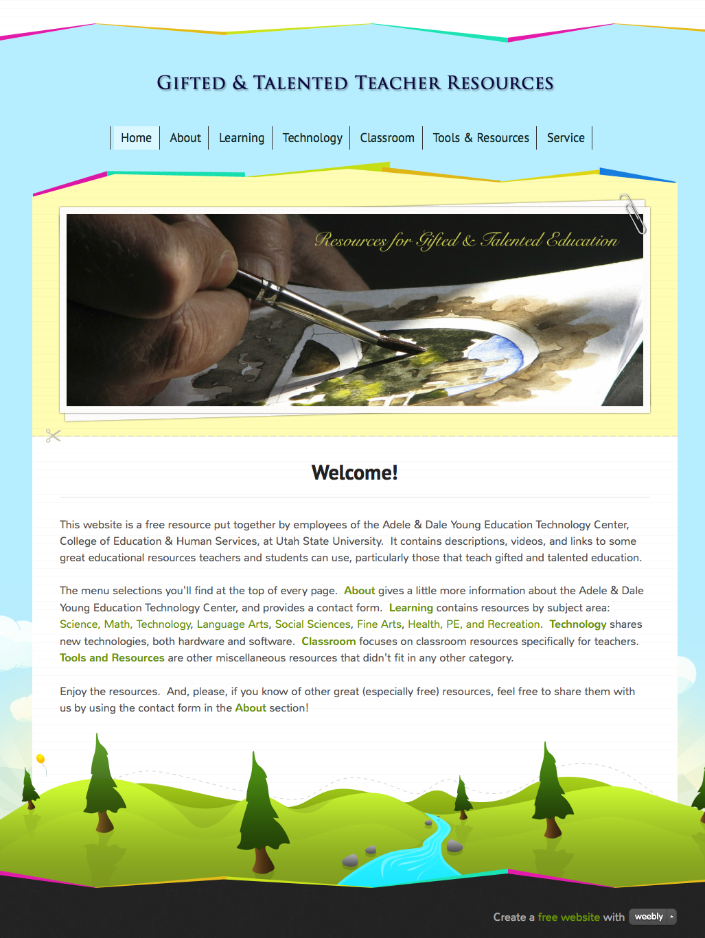 Image - Gifted and Talented Resources website