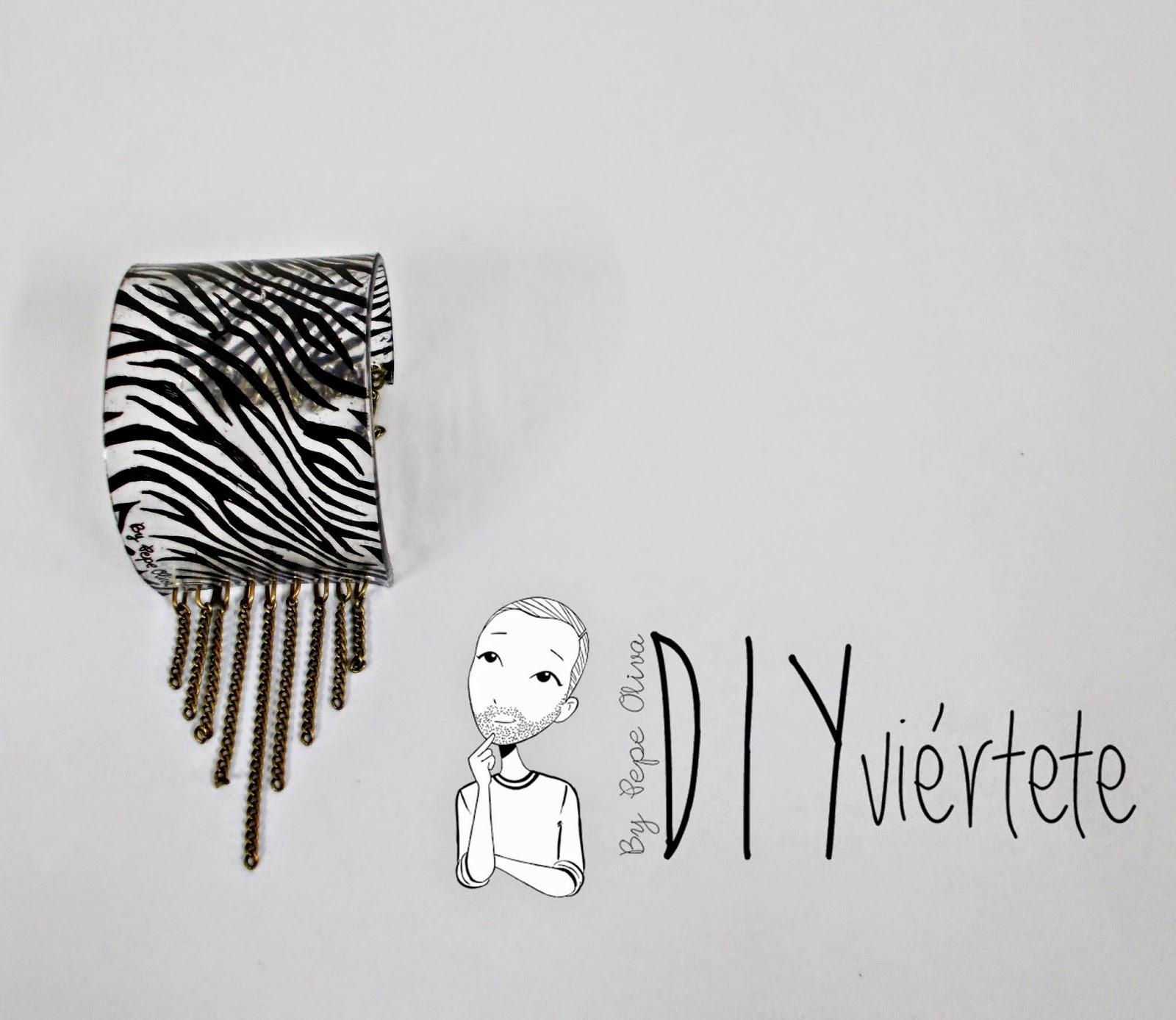 DIY-plástico mágico-pulsera-brazalete-bisutería-Diyviértete