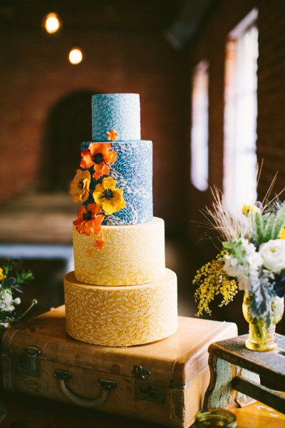 Wedding Talk: A Starry Night Wedding Cake