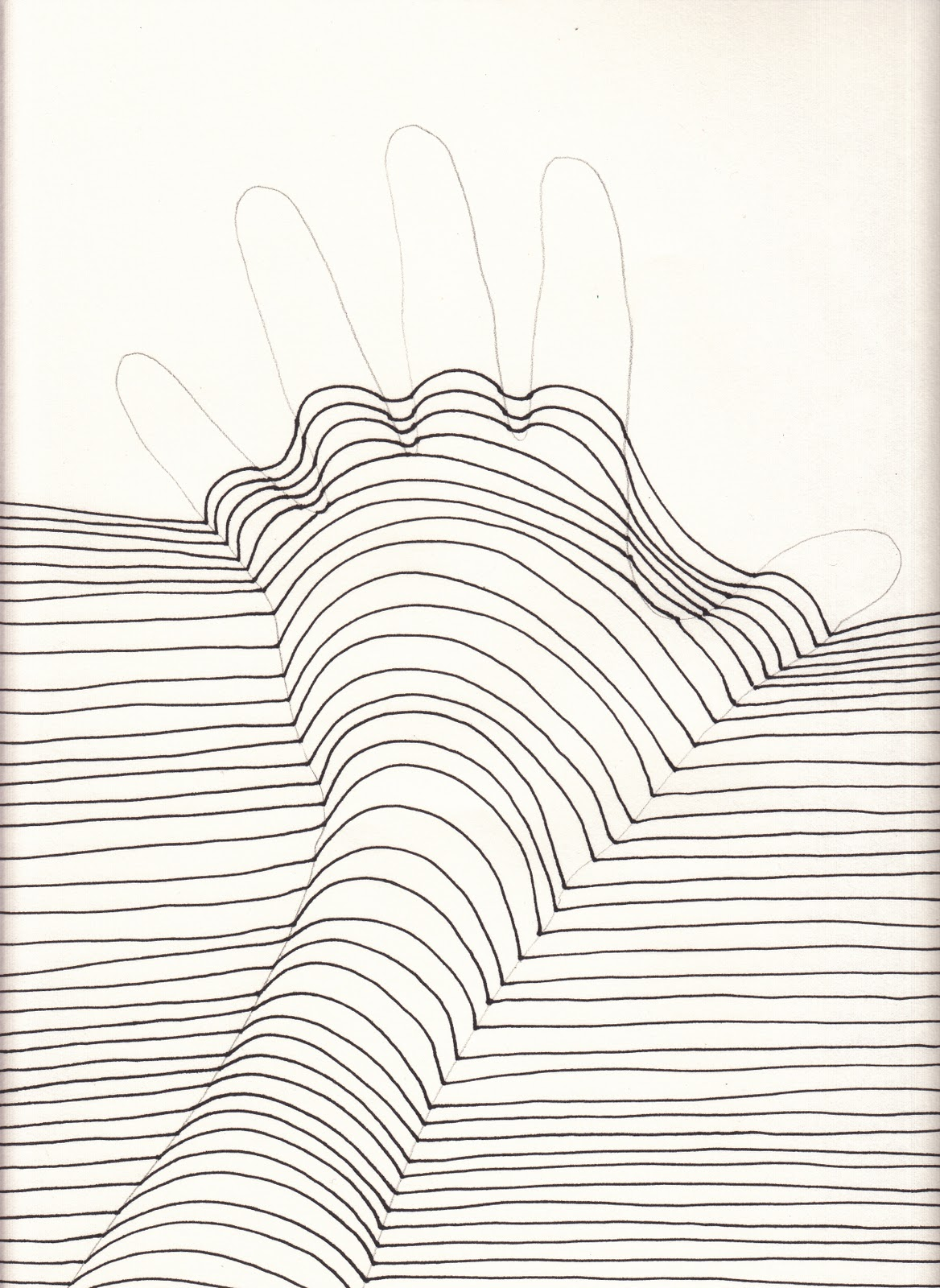 Line Art Hands : The creative spirit op art hands that pop