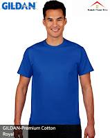 Kaos Polos Gildan Premium blue