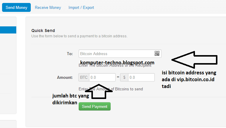 Send money To vip.bitcoin.co.id akun