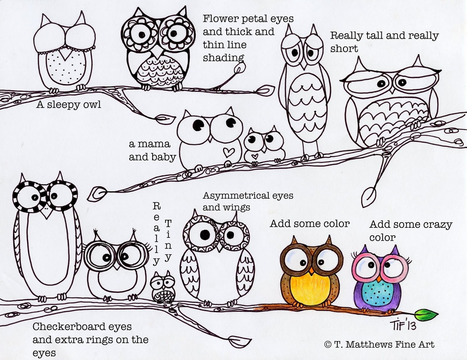 Cute owl love drawing - photo#25