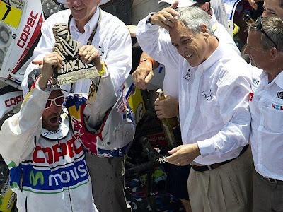 Rally Dakar 2013 fue despedido con emotiva clausura en Santiago