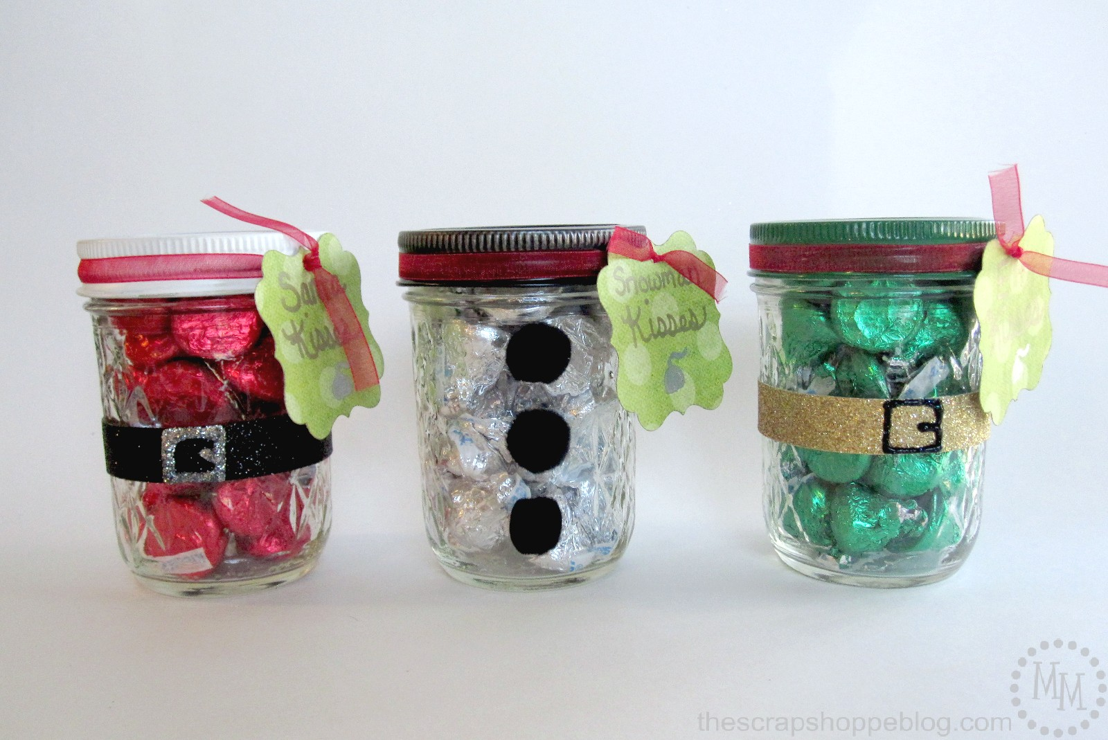 Christmas Kisses Treat Jars - The Scrap Shoppe