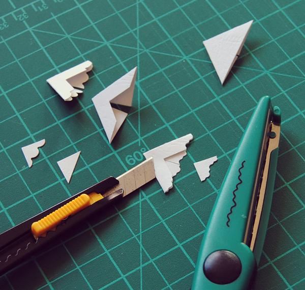 Узор фигурных ножниц
