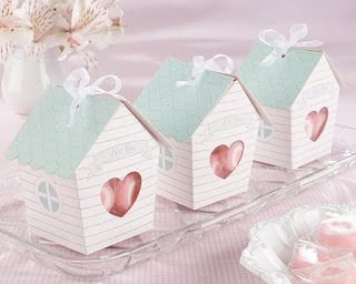 "Bird House ""Home Tweet Home"" Baby shower Favor Box (24)"