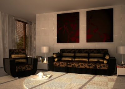 decorate a living room with brown furniture