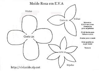 Arte Com Quiane Paps E Moldes De Artesanato Molde Flor De Eva