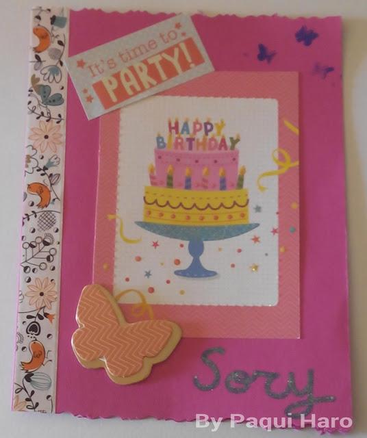 Tarjeta de cumpleaños scrap