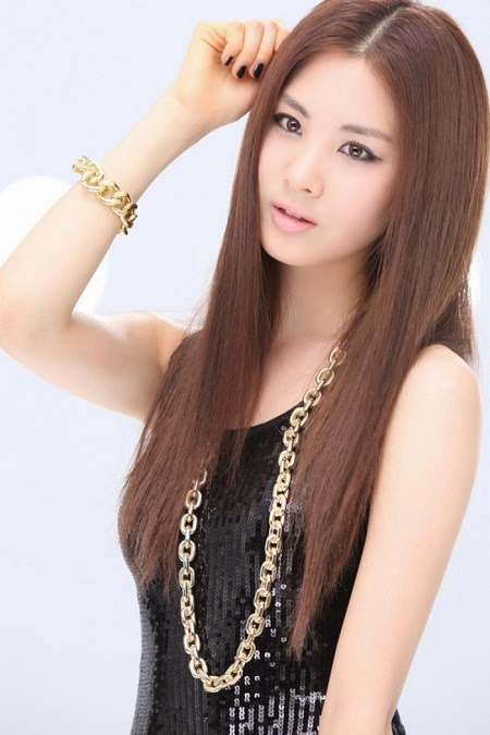 Korean Girls Long Hair Style Fresh Images 2014 World Latest Fashion Trends