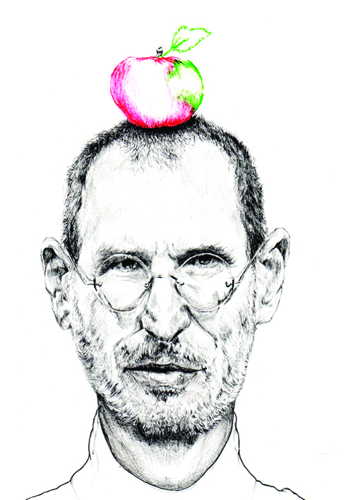 typography inspiration, You're my favorite work of art typography Print, Illustration drawing honoring Steve Jobs, Steve Jobs hand drawing inspiration, Apple illustration