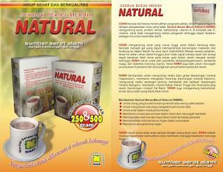 serbuk beras merah natural nasa