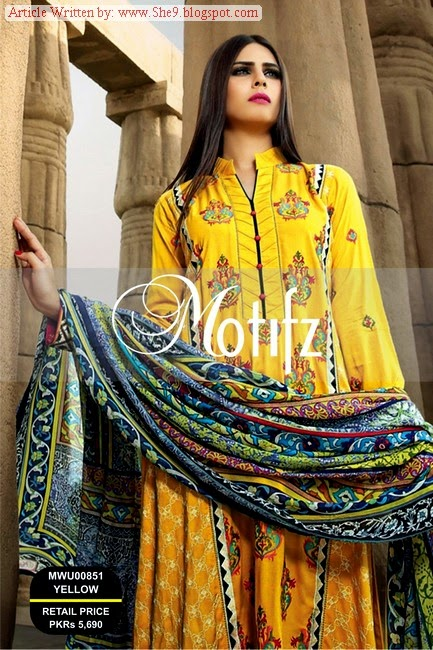 Motifz Winter-Fall Dress Collection 2014-2015