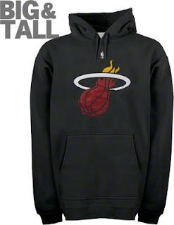 Big and Tall Miami Heat Hooded Sweatshirt