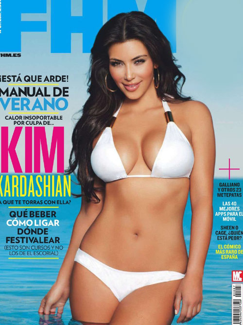 Kim Kardashian's hot picture in Spain FHM Magazine