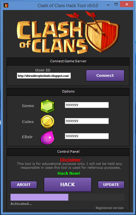 Clash of Clans Hack Tool Ofor using in PC