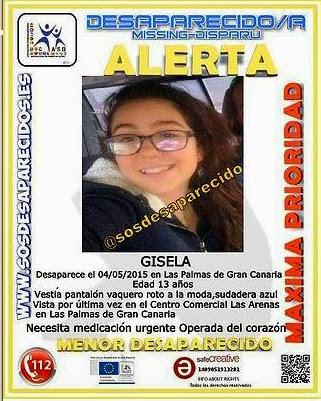 Foto de Gisela, menor de Gáldar desaparecida