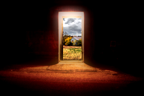 Oltre L 39 Immaginazione Tutorial Porta Aperta Su Un Paesaggio