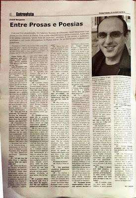 André Benjamim, Entrevista, Os Cadernos Secretos de Sébastian