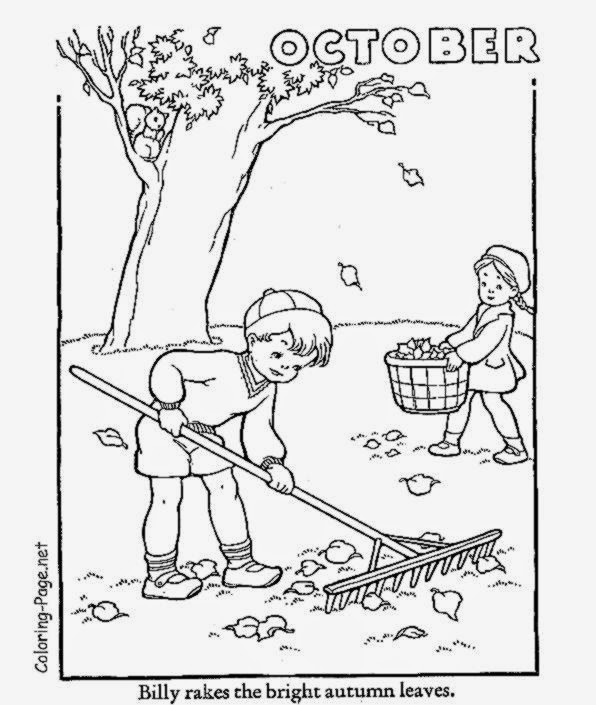 Month Of October Sheet Coloring Pages Coloring Pages For October