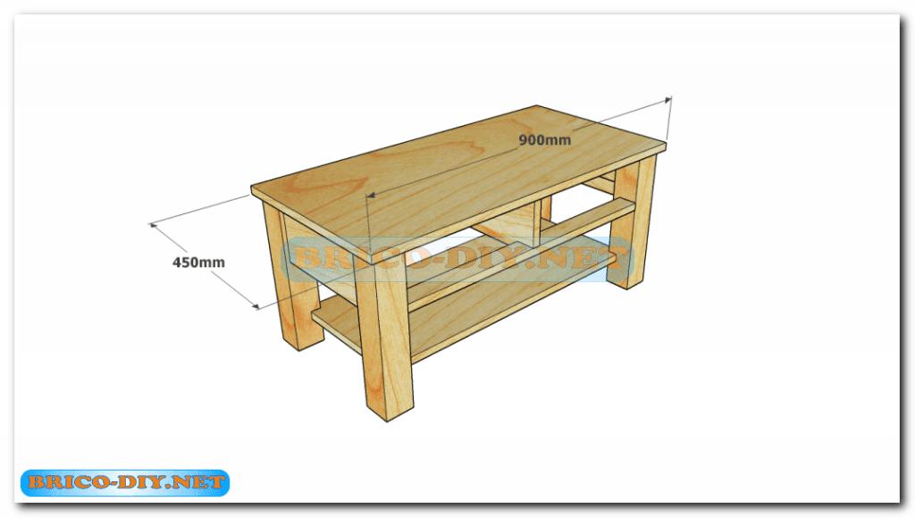 Plano como hacer mesa de centro madera web del bricolaje for Planos de muebles de madera pdf