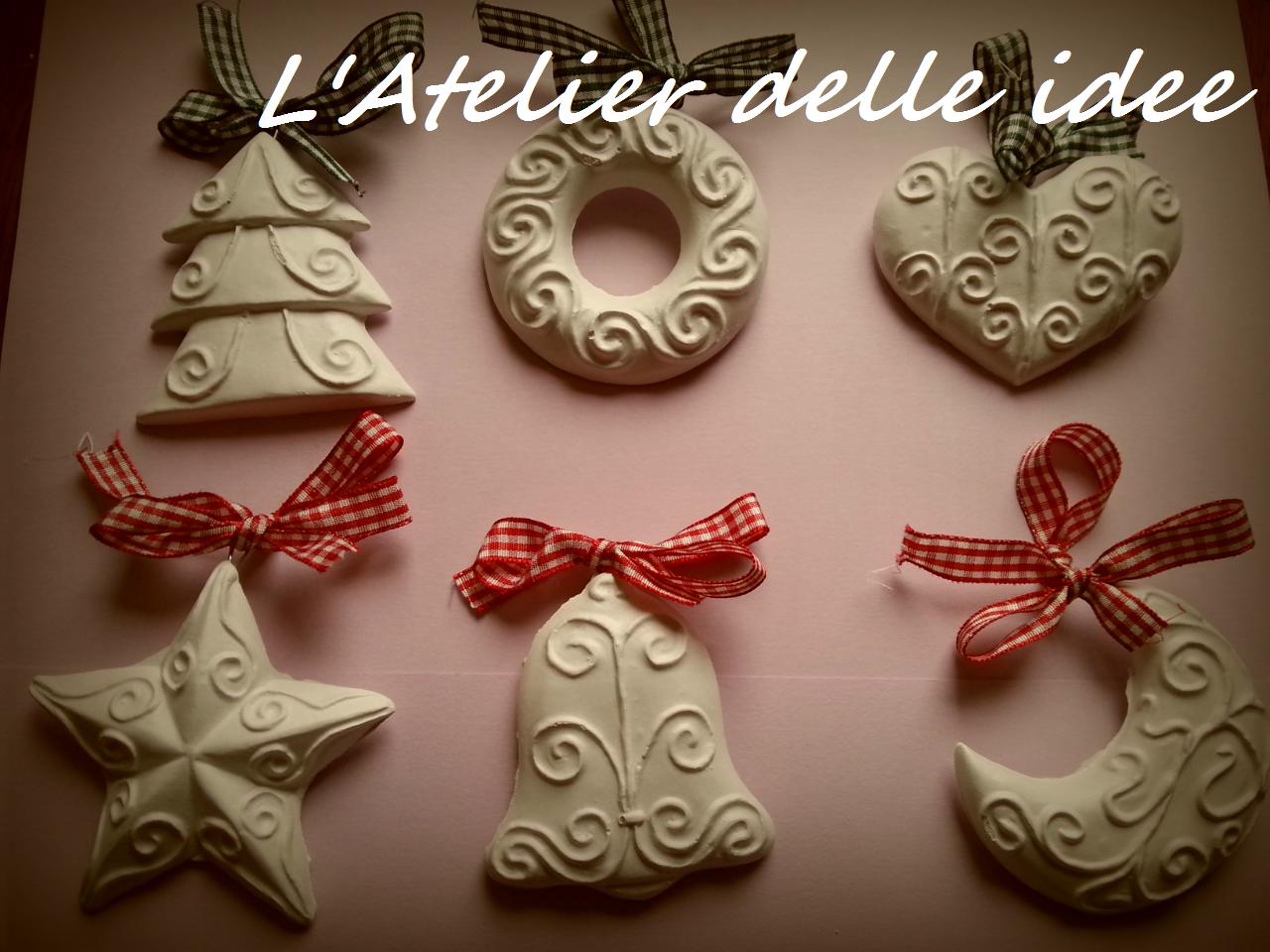 L 39 atelier delle idee decorazioni natalizie - Decorazioni gesso ...